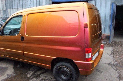 Citroen Berlingo Plasti Dip Phoenix Chameleon Colorshift and Wartex High Gloss