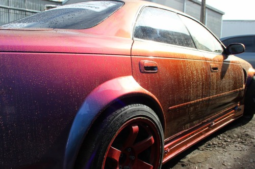 Toyota Mark 2 Plasti Dip Usa Colorshift Sky and Wartex High Gloss