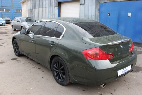 Infiniti G35 Plasti Dip Camo Green and Wartex High Gloss