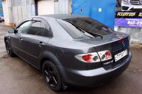 Mazda 6 Plasti Dip Satin Black and Wartex High Gloss
